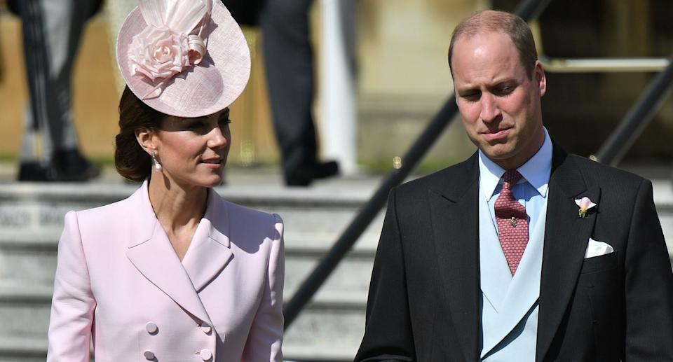 Kate turned to her go-to designer Alexander McQueen for the Buckingham Palace garden party [Photo: PA]