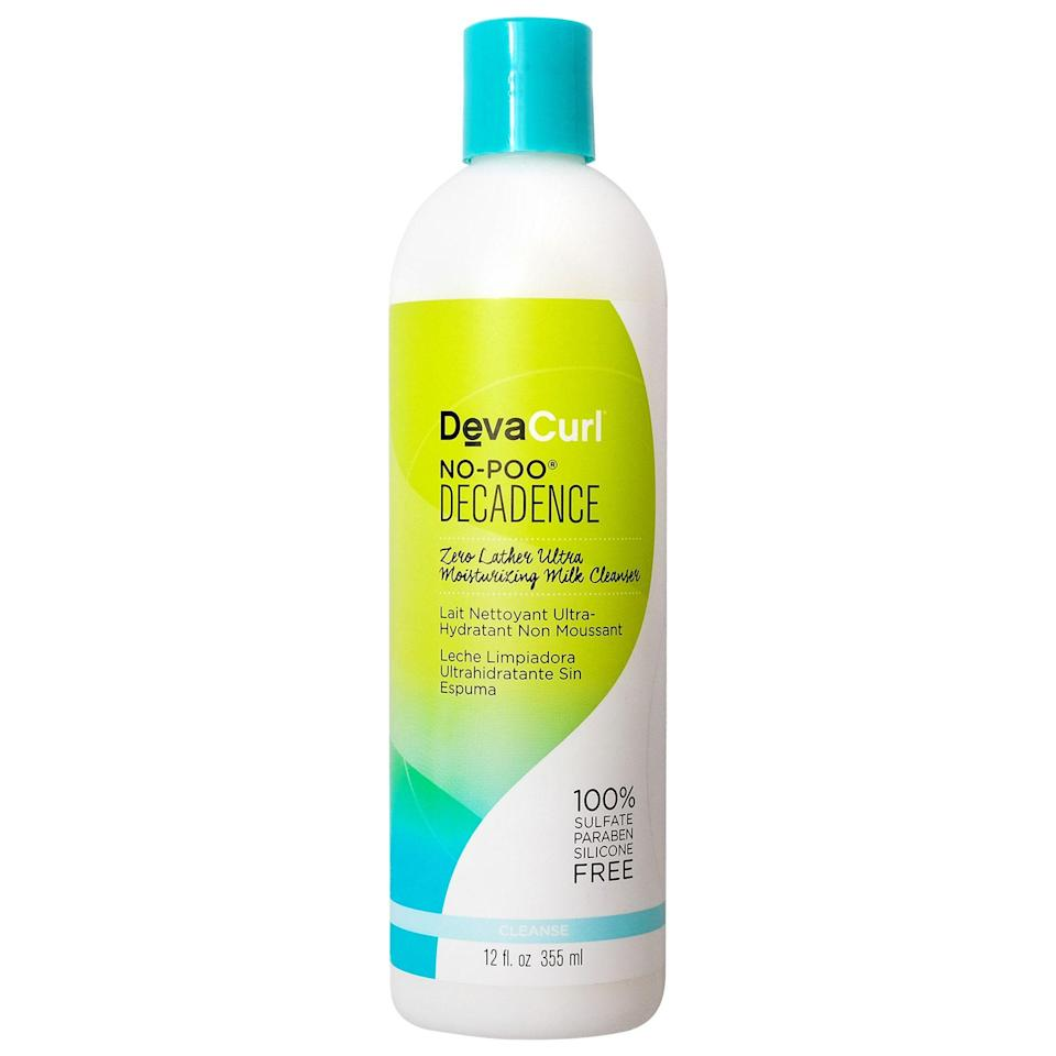 """<p><strong>DevaCurl</strong></p><p>sephora.com</p><p><strong>$24.00</strong></p><p><a href=""""https://go.redirectingat.com?id=74968X1596630&url=https%3A%2F%2Fwww.sephora.com%2Fproduct%2Fno-poo-decadence-P400703&sref=https%3A%2F%2Fwww.womenshealthmag.com%2Fbeauty%2Fg33349558%2F4c-hair-products%2F"""" rel=""""nofollow noopener"""" target=""""_blank"""" data-ylk=""""slk:Shop Now"""" class=""""link rapid-noclick-resp"""">Shop Now</a></p><p>When it comes to coily hair, traditional shampoos can leave curls feeling stripped and dry. This no-poo alternative still cleanses the hair and scalp just without the harsh cleansing agents. It's hydrating, suds-free and conditions hair while you cleanse.</p>"""