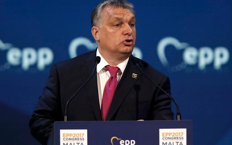 Viktor Orban, the Hungarian prime minister, is making a power play against Washington and Brussels - REUTERS