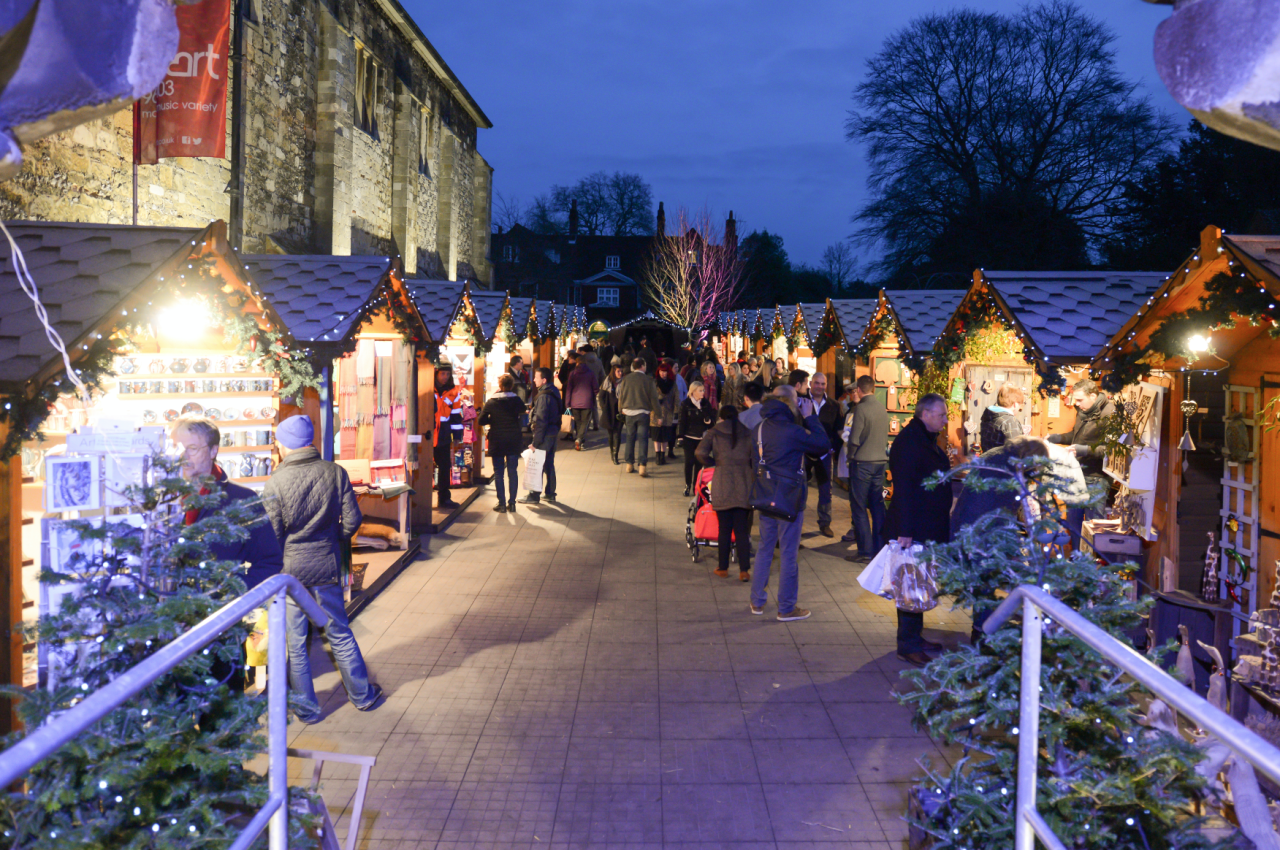 "<p><span><strong>November 17 - December 22.</strong> <a rel=""nofollow"" href=""http://www.winchester-cathedral.org.uk/home/christmas-at-the-cathedral/christmas-market"">Winchester's Christmas market</a> has been deemed one of the best in Europe for its unique location - wooden chalets line the Cathedral's historic Close and surround an open-air ice rink. The exhibitors are hand-chosen and the market is inspired by traditional German Christmas markets. [Photo: Joe Low]</span> </p>"