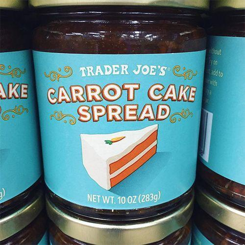 """<p>If you're one of those people who is obsessed with carrot cake, this just might be your favorite thing on this list. <a href=""""https://www.bestproducts.com/lifestyle/a23303918/trader-joes-welcomes-carrot-cake-spread/"""" rel=""""nofollow noopener"""" target=""""_blank"""" data-ylk=""""slk:Carrot Cake Spread"""" class=""""link rapid-noclick-resp"""">Carrot Cake Spread</a> is something you'll want to put on everything you eat.</p>"""