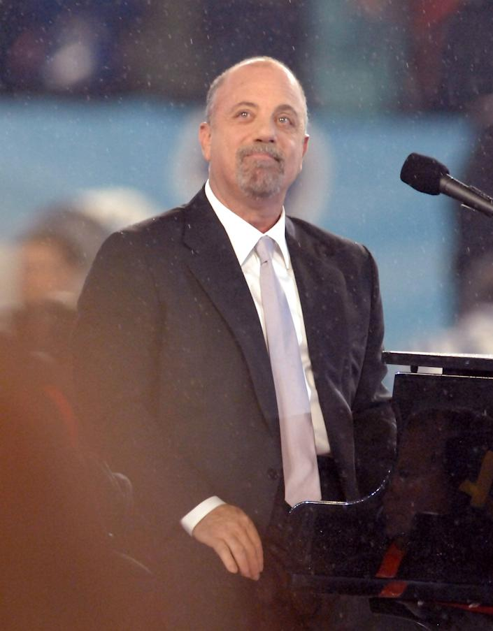 Billy Joel after performing the National Anthem at Super Bowl XLI at Dolphins Stadium in Miami, Florida on Feb. 4, 2007.