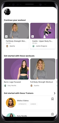 The cure.fit app has fitness classes for dance, yoga and strength training, as well as meditation and nutrition offerings.