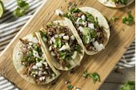 """<p>Orchestrating dinner plans can be a challenge, especially when it comes to accommodating everyone's food preferences. Some people may be <a href=""""https://www.womansday.com/food-recipes/g2559/gluten-free-dinner-recipes/"""" rel=""""nofollow noopener"""" target=""""_blank"""" data-ylk=""""slk:gluten-free"""" class=""""link rapid-noclick-resp"""">gluten-free</a> and others prefer to <a href=""""https://www.womansday.com/food-recipes/food-drinks/g2373/vegetarian-recipes/"""" rel=""""nofollow noopener"""" target=""""_blank"""" data-ylk=""""slk:stay away from meat"""" class=""""link rapid-noclick-resp"""">stay away from meat</a>, while there are some who will eat whatever is offered to them. Luckily, we exist in the same universe as the most egalitarian food of all: tacos. Every member of your crew can order a different flavor combo or adjust ingredients to suit their own dietary needs. If one taco doesn't satisfy your appetite, it's easy to order two (or three, or four) more and bring them along for the ride. And tacos are easy to eat on-the-go, making them a great travel meal. </p><p>So when you're planning your next dinner out, consider one of the best taco joints in every state. (Yes, it may be a drive for some, but we promise it's worth it.) This list was compiled based on the most talked about taco spots on social media and the ones with the highest ratings on Yelp, Facebook, and Google Reviews.</p><p>So consult this list when trying to plan your next taco night. And don't forget to hit an <a href=""""https://www.womansday.com/food-recipes/food-drinks/g27496596/best-ice-cream-near-me/"""" rel=""""nofollow noopener"""" target=""""_blank"""" data-ylk=""""slk:ice cream parlor"""" class=""""link rapid-noclick-resp"""">ice cream parlor</a> for dessert.</p>"""