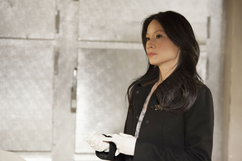 """Heroine"" - Sherlock and Joan (Lucy Liu) once again find themselves in the crosshairs of the enigmatic Moriarty, on the two-hour season finale of ""Elementary."""