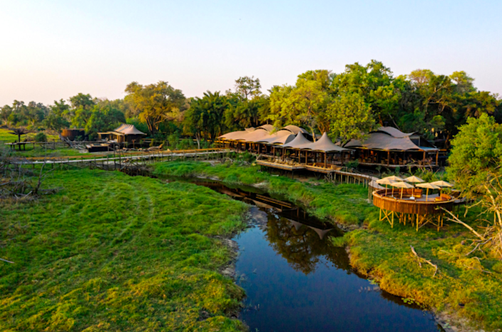 "Botswana's Okavango Delta is getting a new safari lodge that will be unlike anything else in the region. Red Carnation Hotels will debut this 12-suite lodge conceptualized by Toni Tollman, Philip Fourie, and Anton de Kock, who have collaborated with Cape Town's acclaimed Southern Guild Gallery to create a ""living gallery"" of bespoke design pieces commissioned exclusively for the lodge crafted by Africa's most promising young artists and artisans. <em>Opening in January 2021;</em> <a href=""https://xigera.com/"" rel=""nofollow noopener"" target=""_blank"" data-ylk=""slk:xigera.com"" class=""link rapid-noclick-resp""><em>xigera.com</em></a>"
