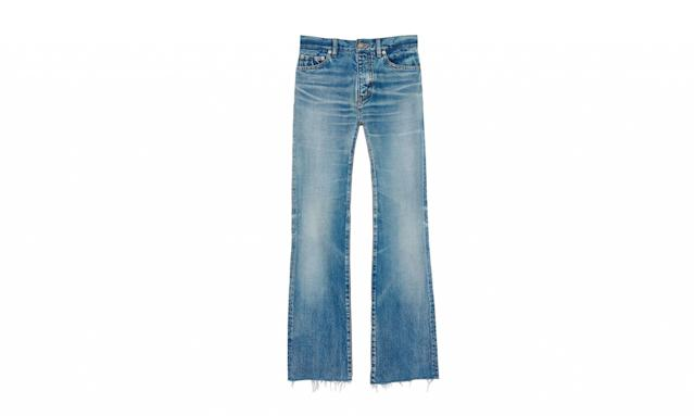 "<p>Original cropped flare jeans in vintage blue denim, $449, <a href=""http://www.ysl.com/item/index?cod10=36918616KM&siteCode=SAINTLAURENT_US&tp=105157&utm_source=polyvore&utm_medium=social&utm_campaign=promoted_ads_US"" rel=""nofollow noopener"" target=""_blank"" data-ylk=""slk:ysl.com"" class=""link rapid-noclick-resp"">ysl.com</a> </p>"
