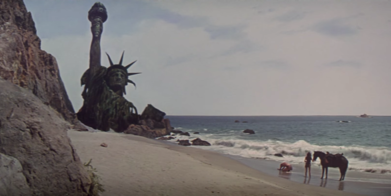 The classic final scene of 1968's <i>Planet of the Apes</i>
