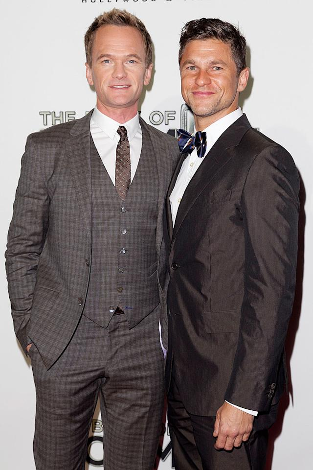 "Neil Patrick Harris and his partner David Burtka left their twins at home with a sitter for a (very dapper) night out at the theater alone. ""You're not gonna believe it, but The Book of Mormon is funny!"" the ""How I Met Your Mother"" actor tweeted after the show. ""Like,  hilarious funny. I bet it'll be a hit. Congrats, tour cast. You rocked"" (9/12/2012)"