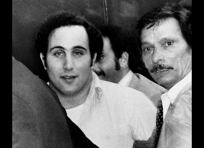 "David Berkowitz, the ""Son of Sam"" killer, terrorized New York with six murders and several other shootings that ended with his 1977. When police arrested him, Berkowitz, a mailman, said his neighbor's dog commanded him to strike. He's in Sing Sing prison In New York serving life, though he's eligible for parole."