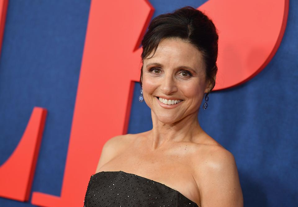 Julia Louis-Dreyfus attends the 'Veep' seventh and final season premiere at Alice Tully Hall, Lincoln Center on March 26, 2019 in New York City. (Photo by Angela Weiss / AFP)        (Photo credit should read ANGELA WEISS/AFP/Getty Images)