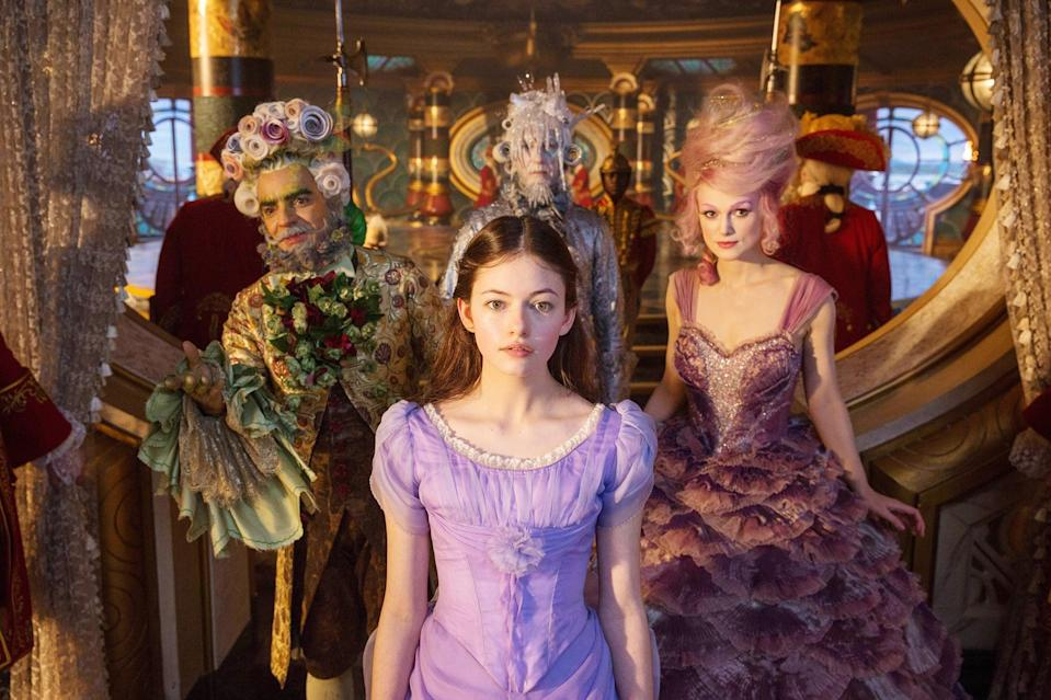 """<p><strong>What it's about:</strong> """"From Disney comes the re-imagined tale of The Nutcracker. When Clara's mother leaves her a key, she embarks on a journey to four secret realms-where she discovers her greatest strength could change the world.""""</p> <p><strong>Ages it's best suited to:</strong> 8 and up</p> <p><a href=""""https://www.netflix.com/title/80221447"""" class=""""link rapid-noclick-resp"""" rel=""""nofollow noopener"""" target=""""_blank"""" data-ylk=""""slk:Watch Disney's The Nutcracker and the Four Realms here!"""">Watch <strong>Disney's The Nutcracker and the Four Realms</strong> here!</a></p>"""