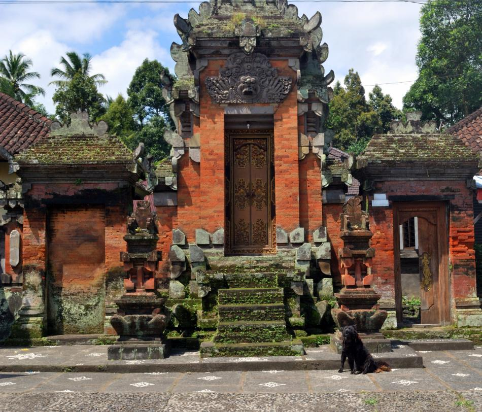 <b>Roadside Temple in Bali, Indonesia</b><br><br>If you think India has many shrines, think again. In Bali, Indonesia's Hindu island, there are temples everywhere – in streets, atop mountains, clinging to cliffs, on the seashore, and in the courtyard of every home.