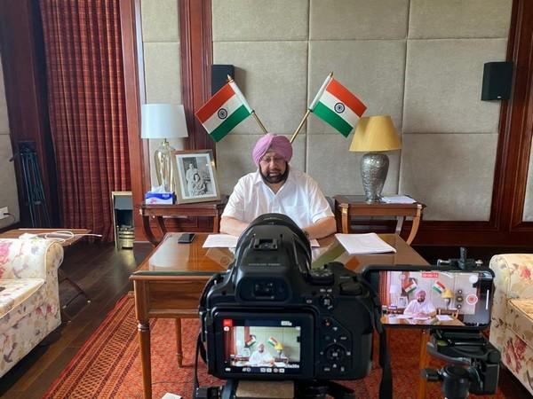 Punjab Chief Minister Captain Amarinder Singh duirng a virtual interaction on Friday. (Photo/ANI)