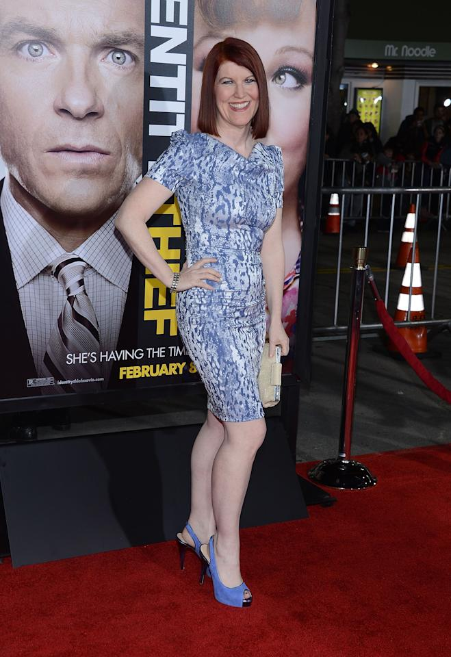 "WESTWOOD, CA - FEBRUARY 04:  Kate Flannery attends the Premiere Of Universal Pictures' ""Identity Theft"" on February 4, 2013 in Westwood, California.  (Photo by Jason Kempin/Getty Images)"