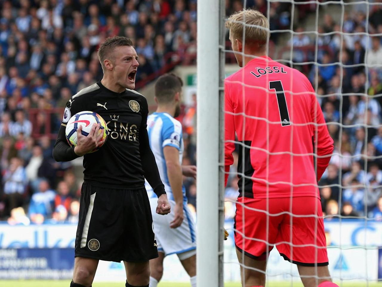 Jamie Vardy's second-half penalty rescues a point for Leicester against impressive Huddersfield