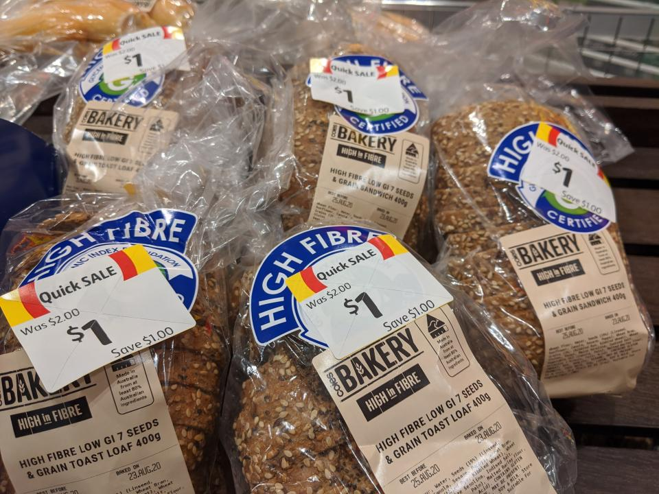Coles discounts its bakery bread the day after it is made. Source: Supplied