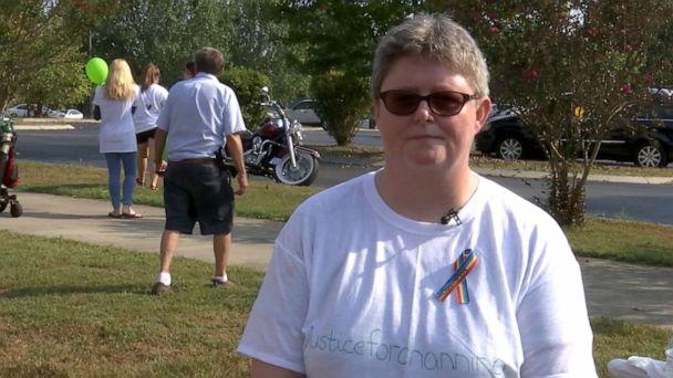 PHOTO: Crystal Smith speaks about her son, Channing Smith, 16, during a vigil in Coffee County, Tennessee. (WKRN)