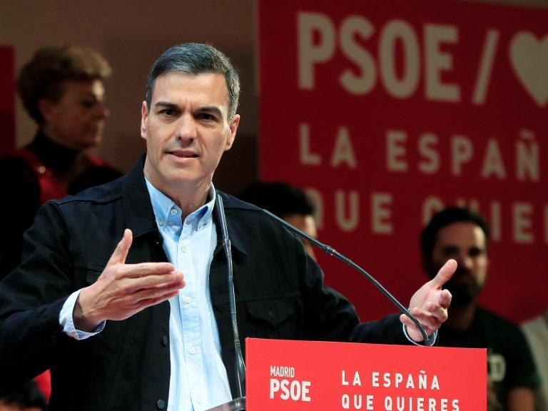 Spain election: Prime minister Pedro Sanchez set to stay in power with left-wing coalition, polls show