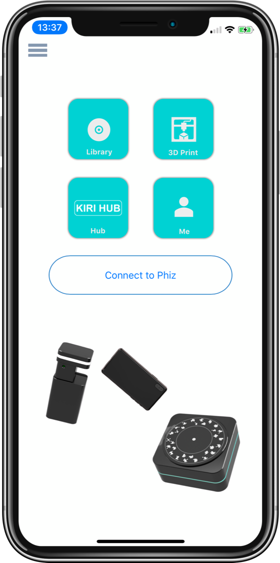 The Phiz 3D Scanner's accompanying smartphone app