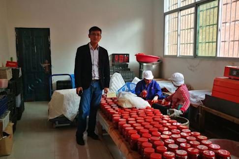 Luo sold around 60,000 jars of fermented bean curd in 2017, with the figure tripling to 200,000 this year. Photo: He Huifeng