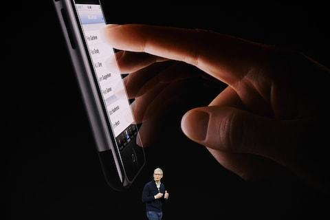 Tim Cook announces iPhone 8  - Credit: Bloomberg