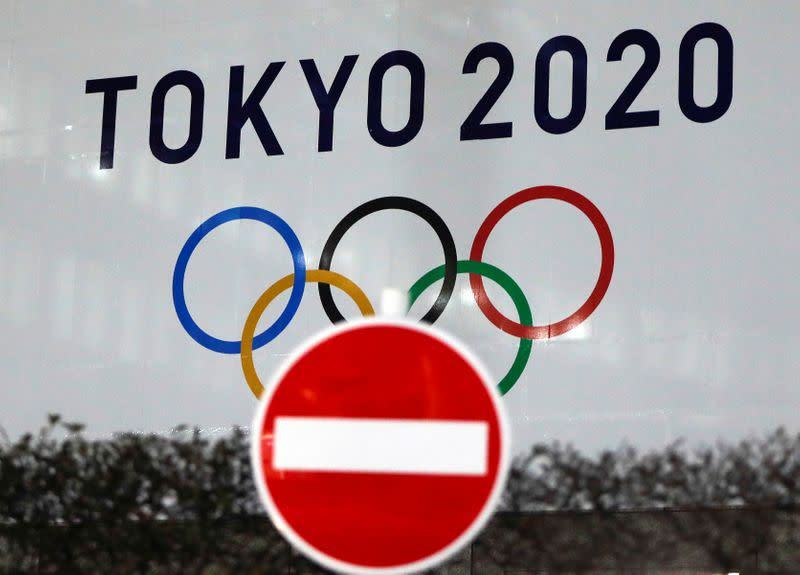 FILE PHOTO: The logo of Tokyo 2020 Olympic Games is displayed, in Tokyo