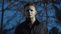 David Gordon Green's 2018 reboot of the <em>Halloween</em> franchise was a monster success, spawning this first segment of a two-part swansong for the character, culminating with <em>Halloween Ends</em> in 2021. Jamie Lee Curtis reprises the role of Laurie Strode again. (Credit: Universal)