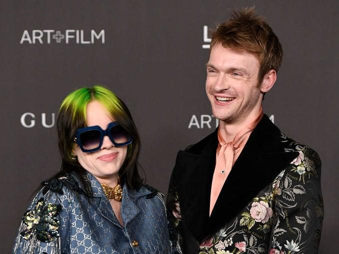 Typically homespun and confessional: Billie EIlish with brother Finneas O'Connell: Getty Images