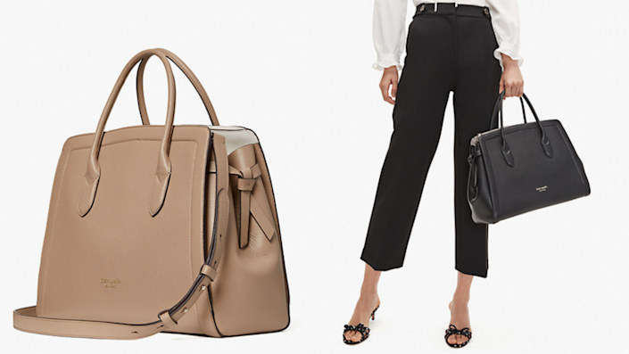 This oversized satchel will fit everything you need for the day.