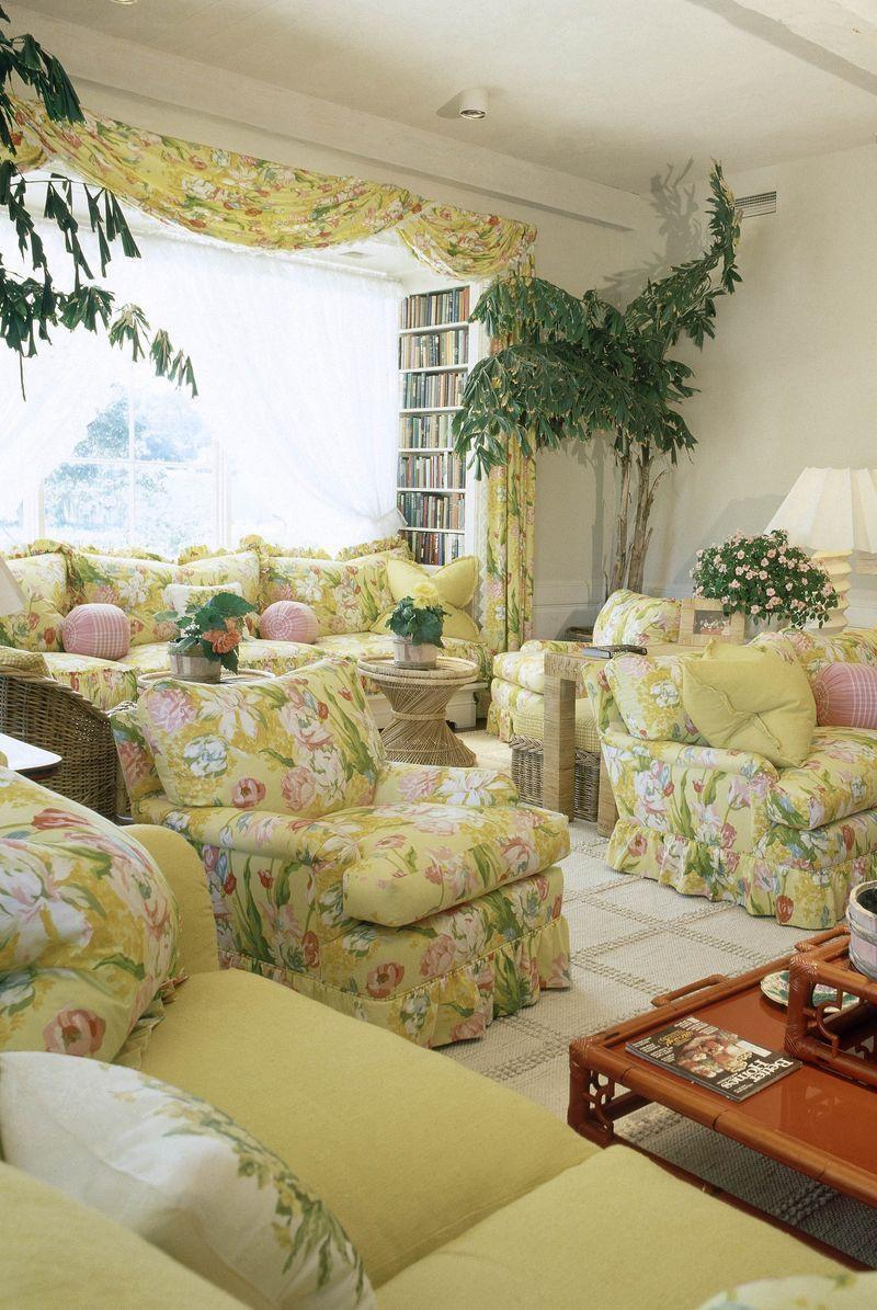 <p>Maximalism is currently on-trend, so a well-placed chintz chair or couch <em>can</em> work—but don't overdo it. The head-to-toe chintz explosion that people opted for in the '70s can make a room feel dated.</p>