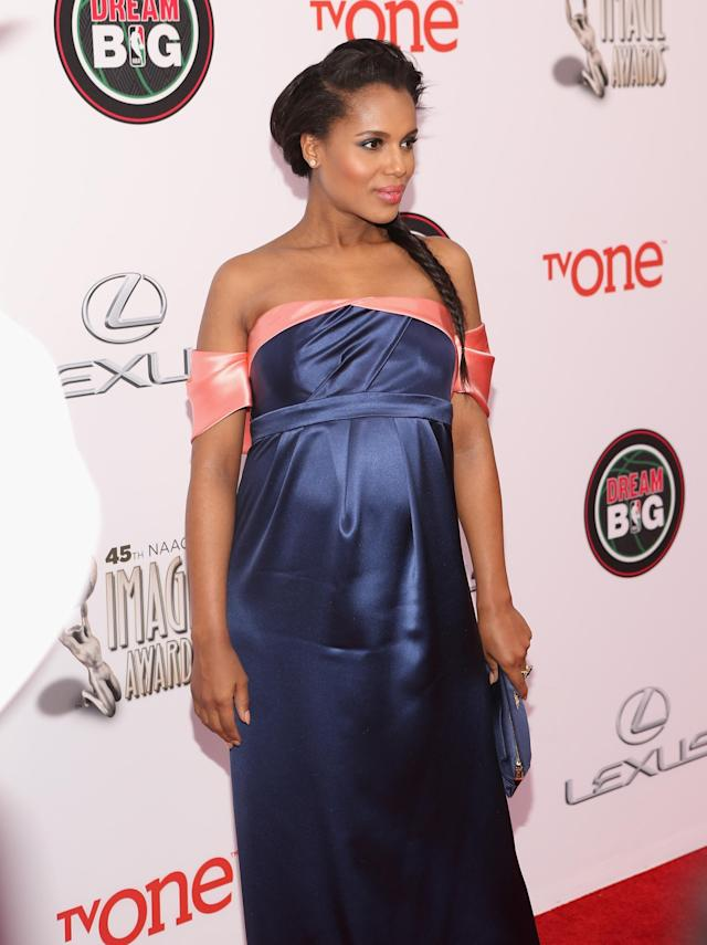 PASADENA, CA - FEBRUARY 22: Actress Kerry Washington attends the 45th NAACP Image Awards presented by TV One at Pasadena Civic Auditorium on February 22, 2014 in Pasadena, California. (Photo by Jesse Grant/Getty Images for NAACP Image Awards)