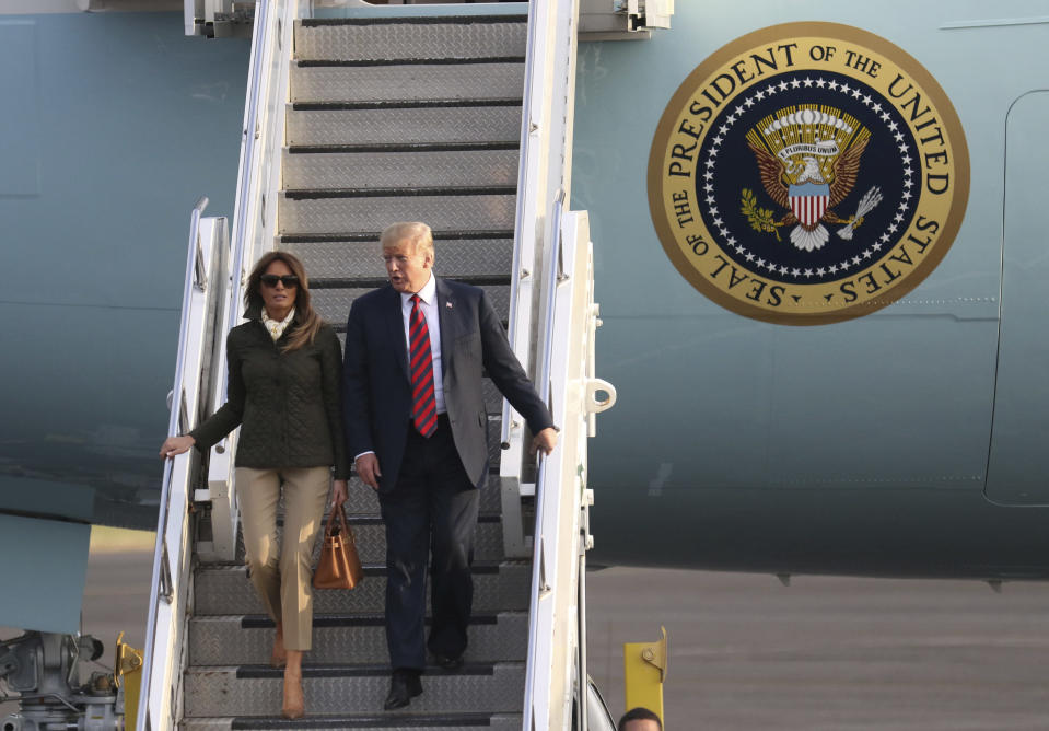 President Trump and first lady Melania Trump. (Photo: Associated Press)