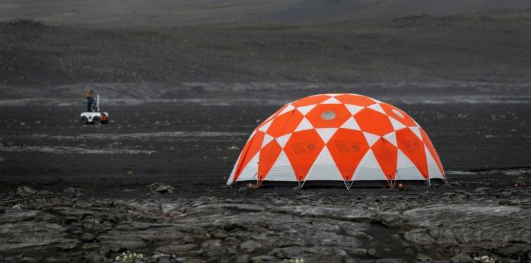 To prepare for the next mission to Mars in 2020, NASA has taken to the lava fields of Iceland to get its new robotic space explorer ready for the job (AFP Photo/Halldor KOLBEINS)