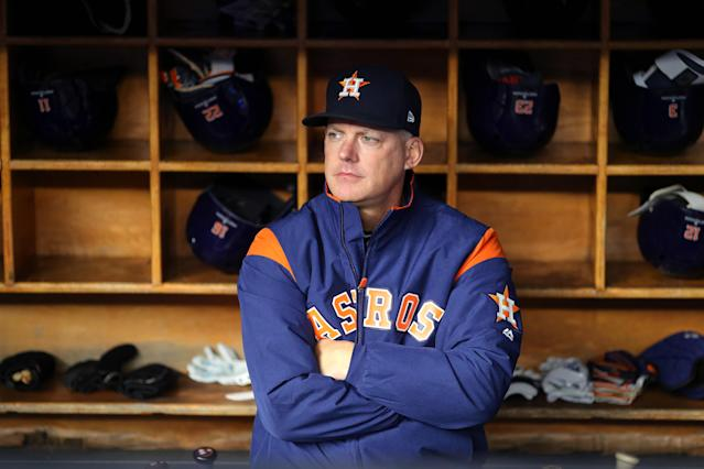 An Astros fan listened to more than 8,000 pitches from the 2017 season looking for evidence of their cheating. (Photo by Alex Trautwig/MLB Photos via Getty Images)