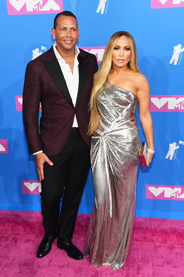 "<p>Lopez arrived at the VMAs alongside boyfriend, Alex Rodriguez, whom she called her ""twin soul"" during her Vanguard Award acceptance speech. </p>"