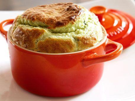 """<strong>Get <a href=""""http://www.huffingtonpost.com/2011/10/27/mikes-broccoli-and-blue-_n_1057590.html"""">Mike's Broccoli and Blue Cheese Souffle</a> recipe</strong>"""