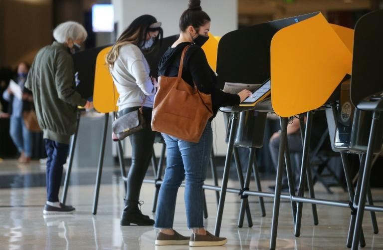Voting in California -- but will the US election system hold up?