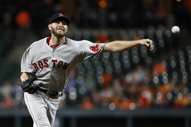 Boston Red Sox pitcher Chris Sale reached quite a milestone with his 300th strikeout of the season. (AP)