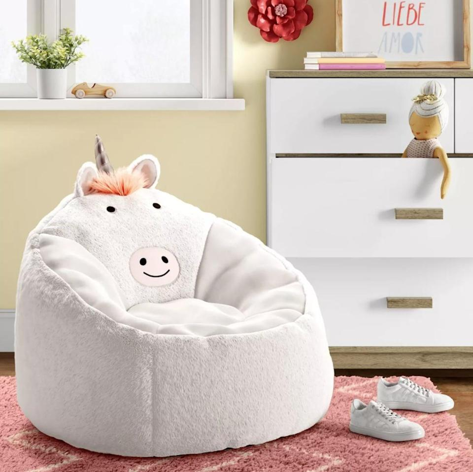 <p>This <span>Pillowfort Character Bean Bag Chair Bunny </span>($60) is the ultimate spot for kids to sit and read a book or just listen to some music. Plus, the cute design will fit right into their room.</p>