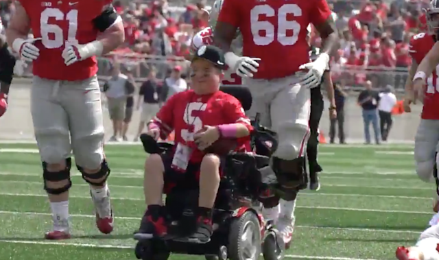 Jacob Jarvis gave the Scarlet team a 38-31 win. (Ohio State football)