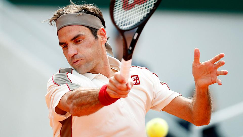 Pictured here, Roger Federer in action before his long injury lay-off.