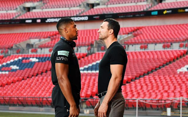 <span>Anthony Joshua will fight Wladimir Klitschko in front of 90,000 at Wembley </span> <span>Credit: EPA  </span>