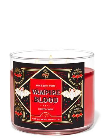 """<p>Are you really on Team Edward if you aren't lighting the <span>Bath &amp; Body Works Vampire Blood Candle</span> ($25) this <a class=""""link rapid-noclick-resp"""" href=""""https://www.popsugar.com/Halloween"""" rel=""""nofollow noopener"""" target=""""_blank"""" data-ylk=""""slk:Halloween"""">Halloween</a>? With hints of blood red strawberry, midnight blooming jasmine, and dark transylvanian plum, this three-wick candle checks all the spooky boxes.</p>"""