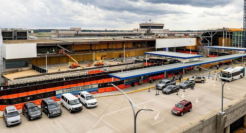 Charlotte Douglas International Airport has announced changes to entry and exit patterns due to lobby construction.