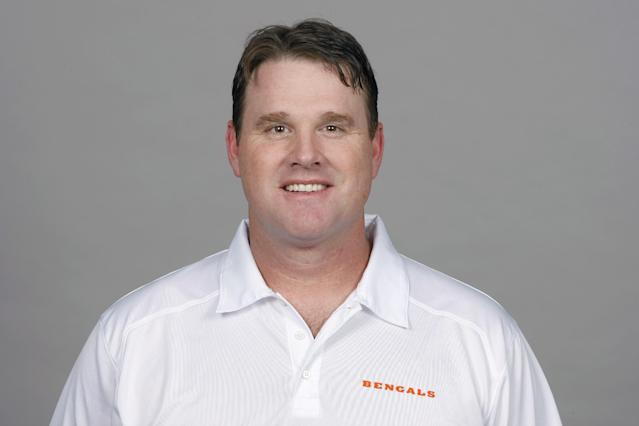FILE - This is a 2013 file photo showing Jay Gruden, of the Cincinnati Bengals NFL football team. Jay Gruden has agreed to become the head coach of the Washington Redskins. The Redskins confirmed Thursday, Jan. 9, 2014, that Gruden has accepted the job and will be introduced at an afternoon news conference. (AP Photo/File)