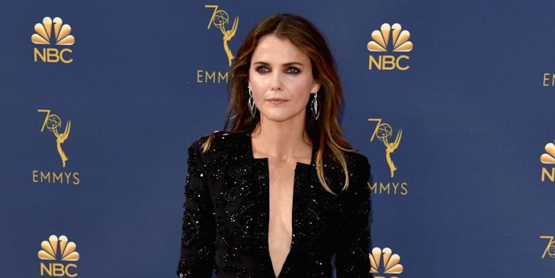 4ec8ae7041 Keri Russell Wore a Low-Key Sexy Feathered Dress to the Emmys