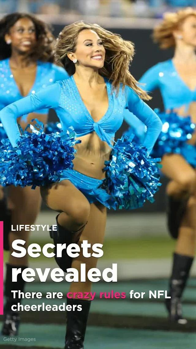 NFL cheerleaders are banned from wearing sweatpants in public, pressured to lose weight, and have tightly controlled social media habits, according to a story published in the New York Times.
