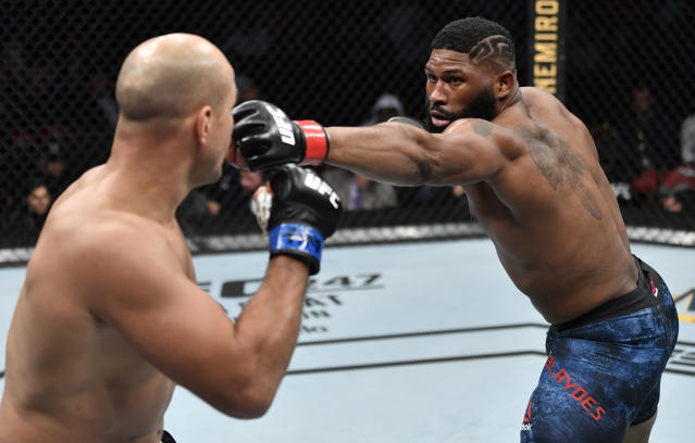 Curtis Blaydes has won seven of his last eight fights. (Photo by Jeff Bottari/Zuffa LLC via Getty Images)