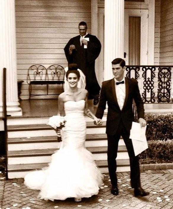 A Tattooed Katie Waisell 'So In Love' As She Marries Model Brad Alphonso